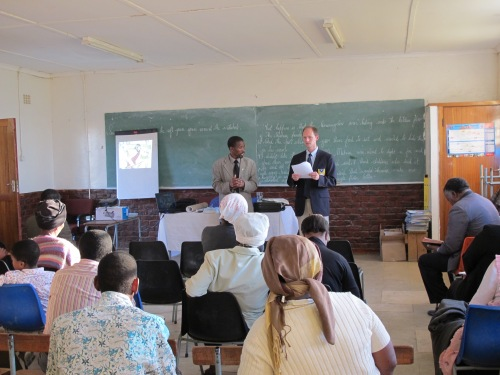 Pastor Lankethi and Jon Teaching